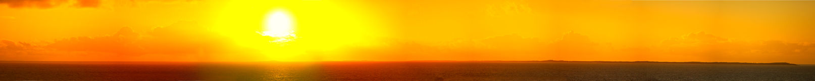 панорама 180 градусов Багам на восходе солнца Стоковое Изображение