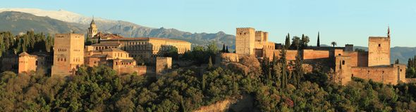 панорама alhambra Стоковые Изображения RF