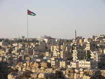 панорама amman Иордана Стоковое фото RF