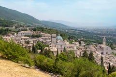Панорама Assisi. стоковое изображение rf