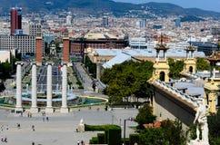 панорама barcelona стоковое изображение