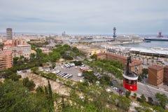 панорама barcelona Стоковые Фото