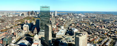 панорама boston Стоковая Фотография RF