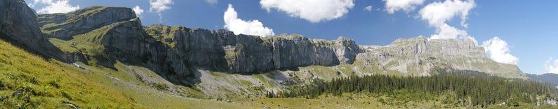 панорама braunwald Стоковая Фотография