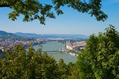 панорама budapest Венгрии Стоковые Изображения RF