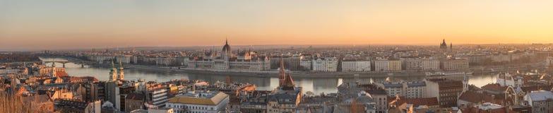 панорама budapest Венгрии Стоковые Фотографии RF