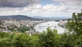 панорама budapest Стоковые Изображения
