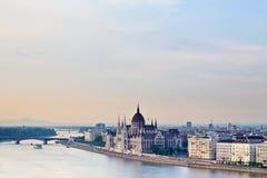 панорама budapest Стоковая Фотография RF