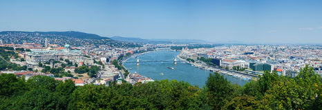 панорама budapest Стоковые Фото