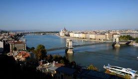 панорама budapest danube Стоковое Изображение RF