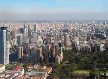 Панорама Buenos Aires, Аргентины Стоковая Фотография RF
