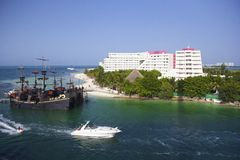 Панорама Cancun, Мексики Стоковые Фото