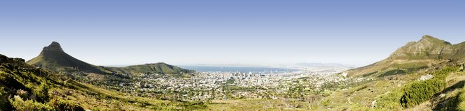 Панорама Cape Town Стоковое Изображение