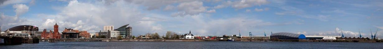 панорама cardiff залива Стоковые Фото