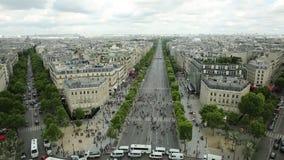 Панорама Champs-Elysees видеоматериал