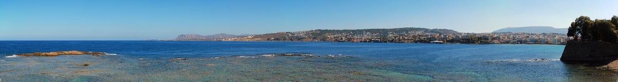 панорама chania стоковые изображения