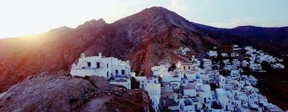 Панорама Chora Serifos Стоковые Фотографии RF