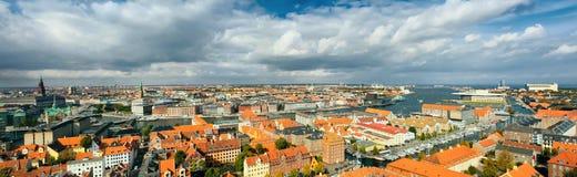 панорама copenhagen Дании большая стоковые изображения