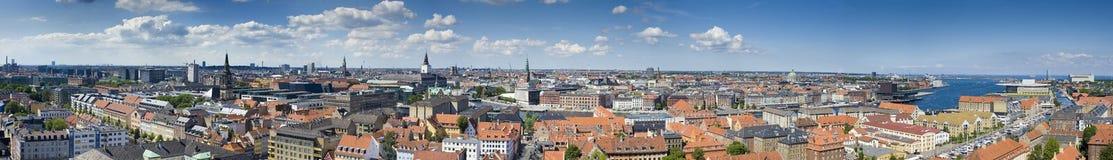 панорама copenhagen Дании стоковые фотографии rf