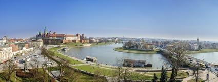 Панорама Cracow Стоковые Фото