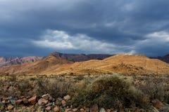 Панорама fantrastic ландшафта moonscape Намибии Стоковые Фото