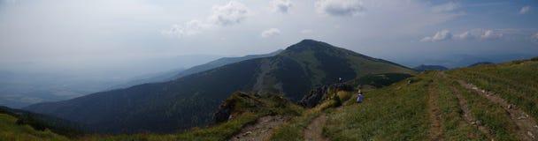 панорама fatra Словакии с горой больших крышек Стоковое Изображение RF