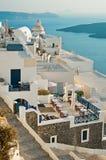 Панорама Fira, Santorini, Греция 2 стоковое изображение rf