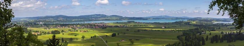 Панорама Foggensee стоковое фото rf