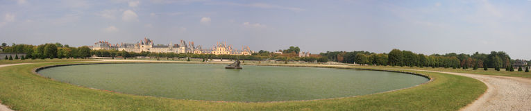 Панорама Fontainebleau Стоковые Фотографии RF