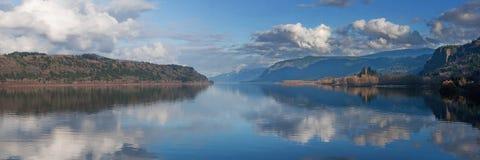 панорама gorge columbia Стоковые Изображения RF