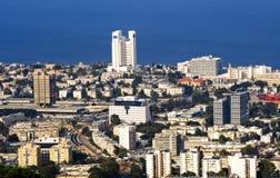 панорама haifa города Стоковое фото RF