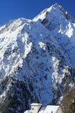 Панорама Hils и гостиниц, Les Deux Alpes, Франции, француза Стоковое Фото