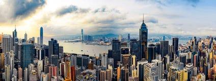 панорама Hong Kong стоковая фотография
