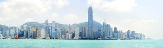 панорама Hong Kong Стоковые Изображения RF
