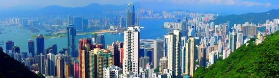 панорама Hong Kong Стоковые Фотографии RF