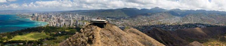 панорама honolulu стоковые изображения rf