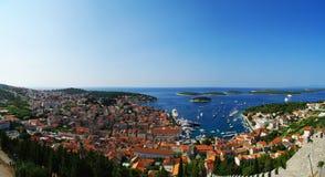 Панорама Hvar Стоковое Фото