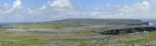 Панорама Inishmore, острова Aran, Ирландия, Европа Стоковое Фото