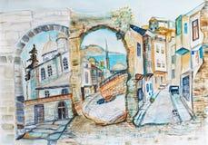 Панорама Istambul иллюстрация штока