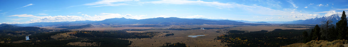 Панорама Jackson Hole (Вайоминг, Айдахо, США) Стоковая Фотография RF