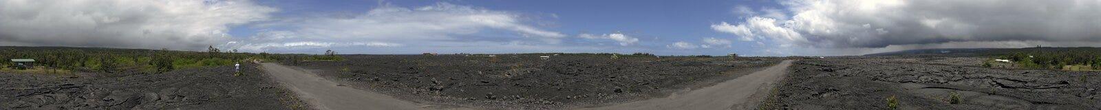 панорама kalapana Стоковые Фотографии RF