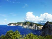 Панорама Kavos Kiras, лефкас, Греция стоковое изображение