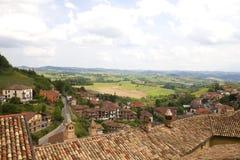 Панорама Langhe Стоковое фото RF