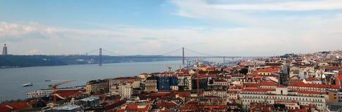 панорама lisbon Стоковое Фото