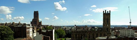 панорама liverpool Стоковое Изображение RF