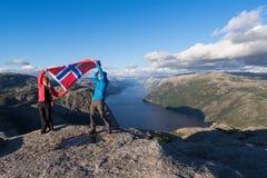 Панорама Lysefjord, Норвегии Стоковые Фотографии RF