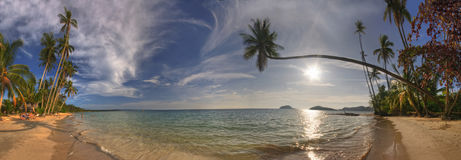 панорама mak koh пляжа Стоковое Фото