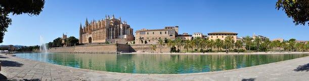 панорама mallorca собора Стоковые Изображения