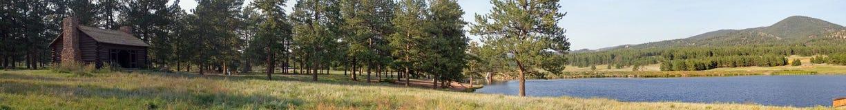 панорама manitou 3 озер Стоковые Изображения RF