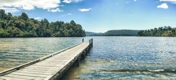 панорама mapourika озера стоковое изображение